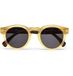 Illesteva Leonard Round-Frame Acetate Sunglasses | MR PORTER