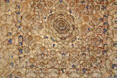 Detalle Cúpula en otra Sala Palacio Leones Alhambra de Granada