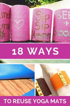 Your old yoga mat doesn't have to go in the trash; repurpose it to reduce your footprint!