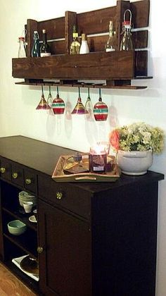 11 pomysłów na półki do domu wykonane z palet
