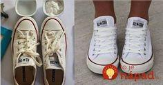 Jednoduchý a lacný návod, vďaka ktorému budú biele tenisky opäť ako nové! Flylady, Nordic Interior, Chuck Taylor Sneakers, Cleaning Hacks, Good Things, Womens Fashion, Techno, Shoes, Style