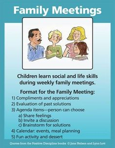 Family meetings are one of the most important tools parents can use to teach children so many valuable social and life skills.
