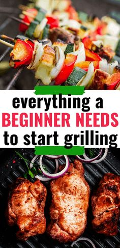 Stop being intimidated by the grill with this Beginner's Guide to Grilling. Learn to use foolproof tools and hacks to master the grill! Grilling Tips, Grilling Recipes, Beef Recipes, Vegetable Recipes, Easy Cooking, Healthy Cooking, Cooking Tips, Cooking For Beginners, Recipes For Beginners