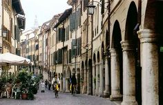 Charming Pordenone in Friuli-Venezia Giulia, Italy I worked on an Italian radio station TPN Hit Energy on this street
