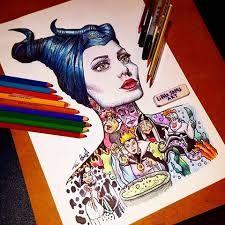 All Disney villains in one piece of art Disney Character Drawings, Cute Disney Drawings, Cute Drawings, Character Art, Disney Paintings, Disney Artwork, Dark Disney, World Disney, Disney Pixar