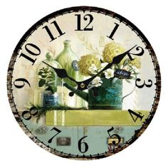 Vintage-Antique-Style-34cm-Wall-Clock-Home-Bedroom-Retro-Kitchen-Quartz-Pa-Q2E8