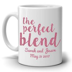 Couples Wedding Gift The Mug Perfect Blend Coffee Cup, Printed on Both Sides! - Red: Coffee Cups & Mugs Wedding Gift Mugs, Diy Wedding Gifts, Wedding Gifts For Guests, Wedding Gifts For Couples, Personalized Wedding Gifts, Bridal Gifts, Diy Gifts, Diy Projects For Couples, Diy Wedding Projects