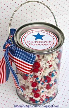 patriotic popcorn   25+ MORE 4th of July party ideas