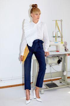 Framboise - Navyblue pants