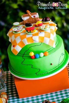 Summer Picnic Birthday Party {Decor, Planning, Ideas, Styling, Cake}