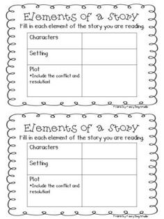 Hoot & Howl at Powell - Music Tells the Story!  Graphic Organizer for Elements of a Story!!