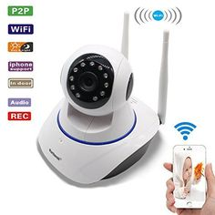 Martheroll IP Camera Wireless HD 720P Remote Baby Video Monitor Wi-Fi Indoor Night Vision Home Security CCTV Camera(US Adapter) - $102.00