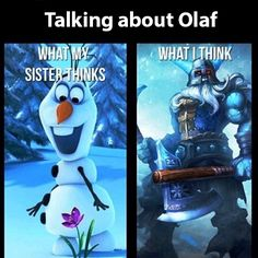 Talking about olaf