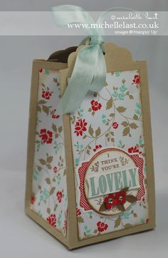 Scallop Tag topper punch from stampin up with fresh print designer series paper