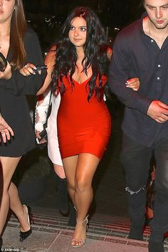 Red hot! Ariel Winter looked nothing like her more modestly dressed on screen alter ego as she stepped out in a bold bodycon number for a night out with friends in Los Angeles on Thursday