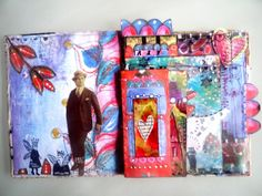 art journal mixed media pages 1 et 2 by Francoise MELZANI, via Flickr