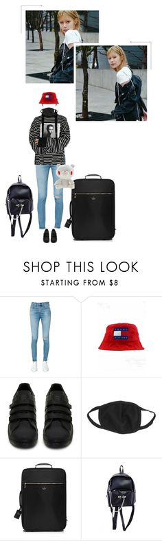 """""""GLAM (글램)   Nell : Airport LA"""" by official-glam ❤ liked on Polyvore featuring rag & bone/JEAN, adidas, Kate Spade and Albino"""