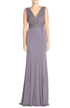 Vera Wang Lace & Jersey Gown