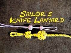 Sailor's Knife Lanyard Knot or Bosuns Whistle (Pipe or Call) Lanyard Knot How to Tie - YouTube