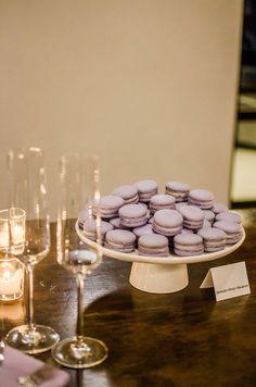 Lavender honey macaroons
