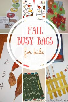 These fall busy bags are perfect for keeping the kiddos busy! From fine motor to fun, your littles will love to do these throughout the entire season!