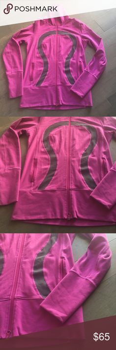 Lululemon Hot Pink Zip Up Yoga Nice Asana Jacket Super cute Lululemon Nice Asana zip up jacket. Size 8 in good condition. This jacket is nice and long and comfortable. Nice thumbholes and Zipup pockets. Some light balling on the fabric, but hard to see. lululemon athletica Jackets & Coats Utility Jackets