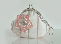Pink Rose Love Purse Metal Frame  by lazydoll on Etsy, $24.90