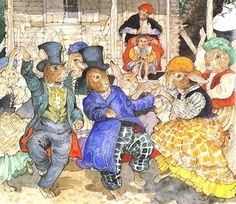 intheheatherbright:  The rabbits did a square dance, a Virginia reel, and even a cakewalk.  Robert D.San Souci, The Talking Eggs, illus. Jerry Pinkney (London: The Bodley Head, 1989).