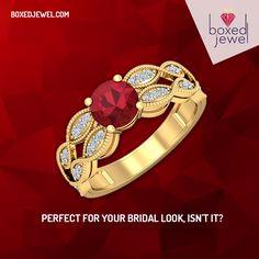 Explore the glazing mounts of luxurious #Gold and #Diamond #Rings. www.boxedjewel.com #Jewellery