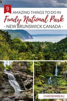 From dramatic coastlines to epic hikes, stunning waterfalls, and even covered bridges, Fundy National Park highlights the best sights New Brunswick, Canada has to offer. East Coast Travel, East Coast Road Trip, Vancouver Island, Banff, Quebec, British Columbia, Rocky Mountains, East Coast Canada, New Brunswick Canada