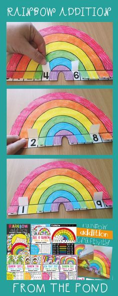 Rainbow Addition Addition Combinations to 10 Posters Games Craft $