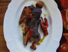 Seared Venison New York Strip with Herbed Lobster Mushrooms (cheese-free, replace lard with coconut oil)