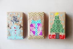 Washi Tape Gift Wrapping- so cute!