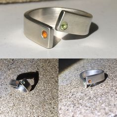 Hand crafted silver ring with citrine MOV Jewellery