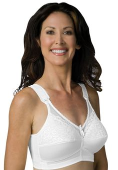 Sheer Comfort Back Hook Mastectomy Bra by Jodee - Women's Plus Size Clothing