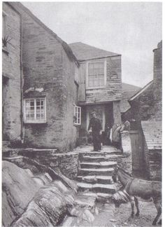 Historical Picture (Polperro)... Old Smugglers Cottage... Cornwall...