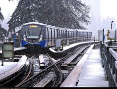 RailPictures.Net Photo: 413 Translink Skytrain Innovia Metro 300 (Bombardier) at Surrey, British Columbia, Canada by Ted Harrison