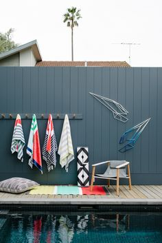 The Design Files Open House 2013 in Hawthorn, Melbourne, OPEN TODAY! Steel sculptures by Dion Horstmans, beach towels, beach mats and floor...