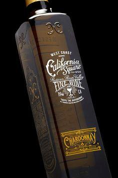 California Square Wine // The Dieline // Designed by Stranger & Stranger