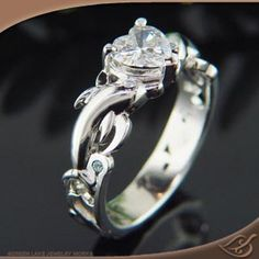 custom dolphins and heart ring whats not to love greenlakejewelry - Dolphin Wedding Rings