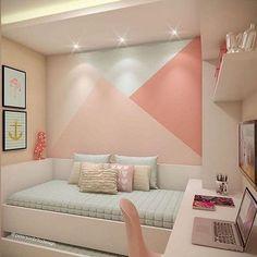 Bedroom Wall Designs, Room Design Bedroom, Room Ideas Bedroom, Home Room Design, Bedroom Decor, Wall Decor, Decor Room, Bedroom Colors, Wall Mural