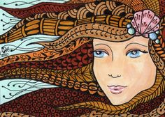 Mermaid - Zentangle Style |   Cindy Vasquez
