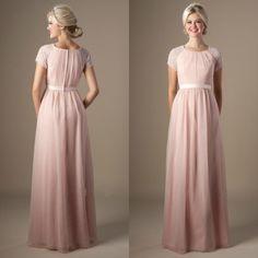 2015 Cheap Designer Grey/Pink Scoop A Line Chiffon Modest Prom Dress Under 200 Ls09302 Long Prom Dresses Under 200 Modern Prom Dresses From Lenafashion, $96.34| Dhgate.Com