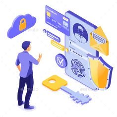Personal Data Protection Vector Illustration