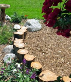 39 Awesome Garden Border and Edging Ideas For Your Landscape Garden Border Edging Ideas Border Edging Ideas, Garden Border Edging, Flower Bed Edging, Garden Borders, Garden In The Woods, Lawn And Garden, Landscaping With Rocks, Backyard Landscaping, Landscaping Ideas