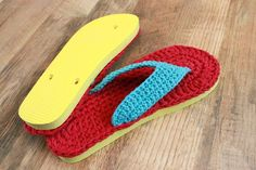 Crochet Slipper Pattern  Adult Flip Flops Child/Adult sizes
