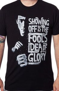 Fools Idea Of Glory Bruce Lee Shirt: Bruce Lee Mens T-shirt