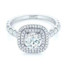 Custom Diamond Halo Engagement Ring | Joseph Jewelry | Bellevue | Seattle | Online | Designers of Fine Custom Jewelry