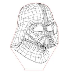 Darth Vader set 3d illusion lamp plan vector file for CNC - 3bee-studio