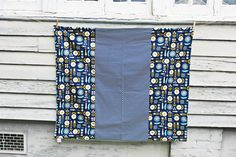 Patchwork Blooming Navy Geometric Modern Floral and by DixieBloom
